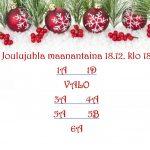 Joulujuhla maanantai